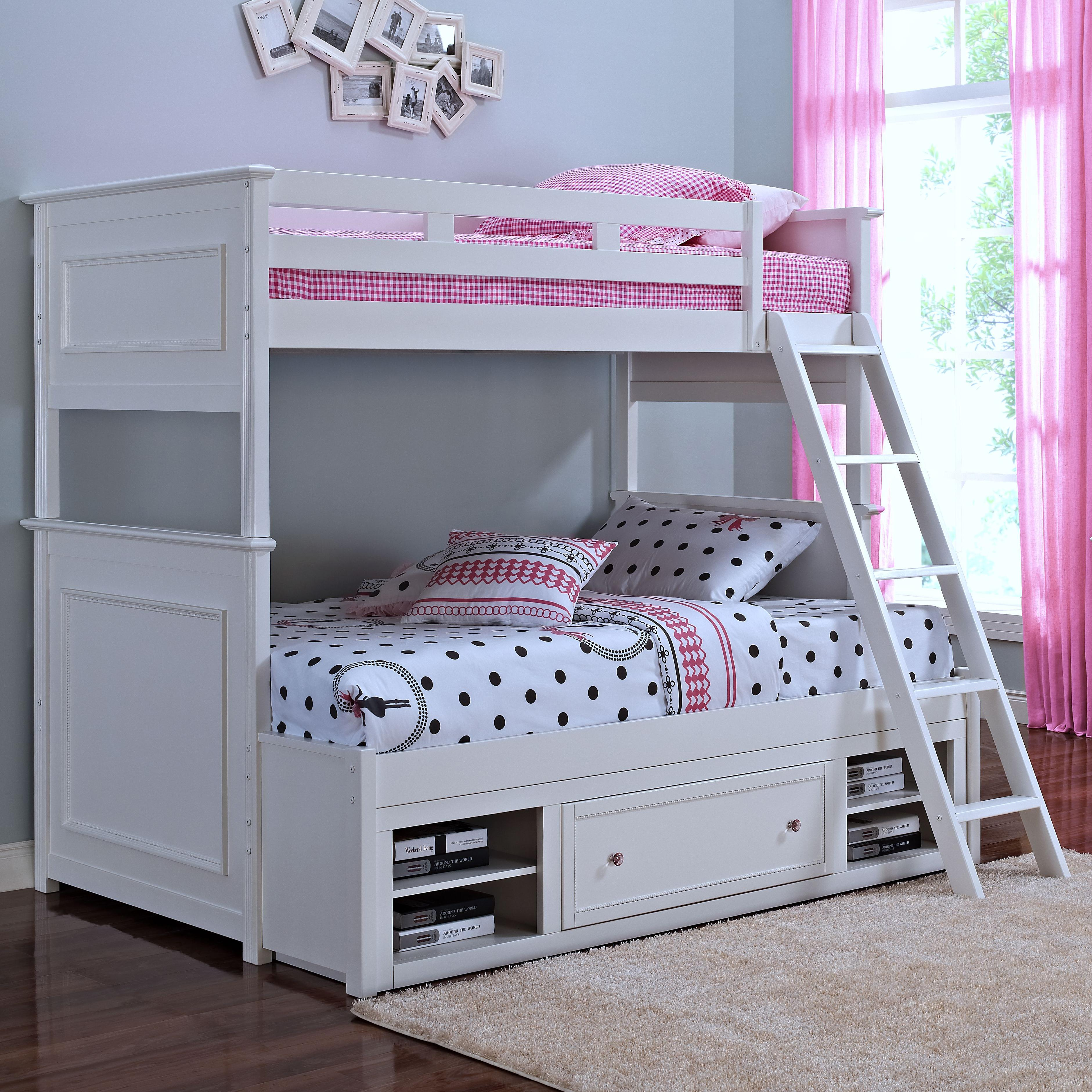 New Classic Megan Twin/Twin Bunk Bed with Storage - Item Number: 05-242-518+538+598