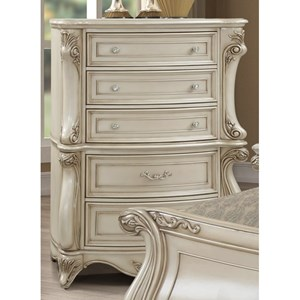 Traditional Drawer Chest with Felt-Lined Top Drawer