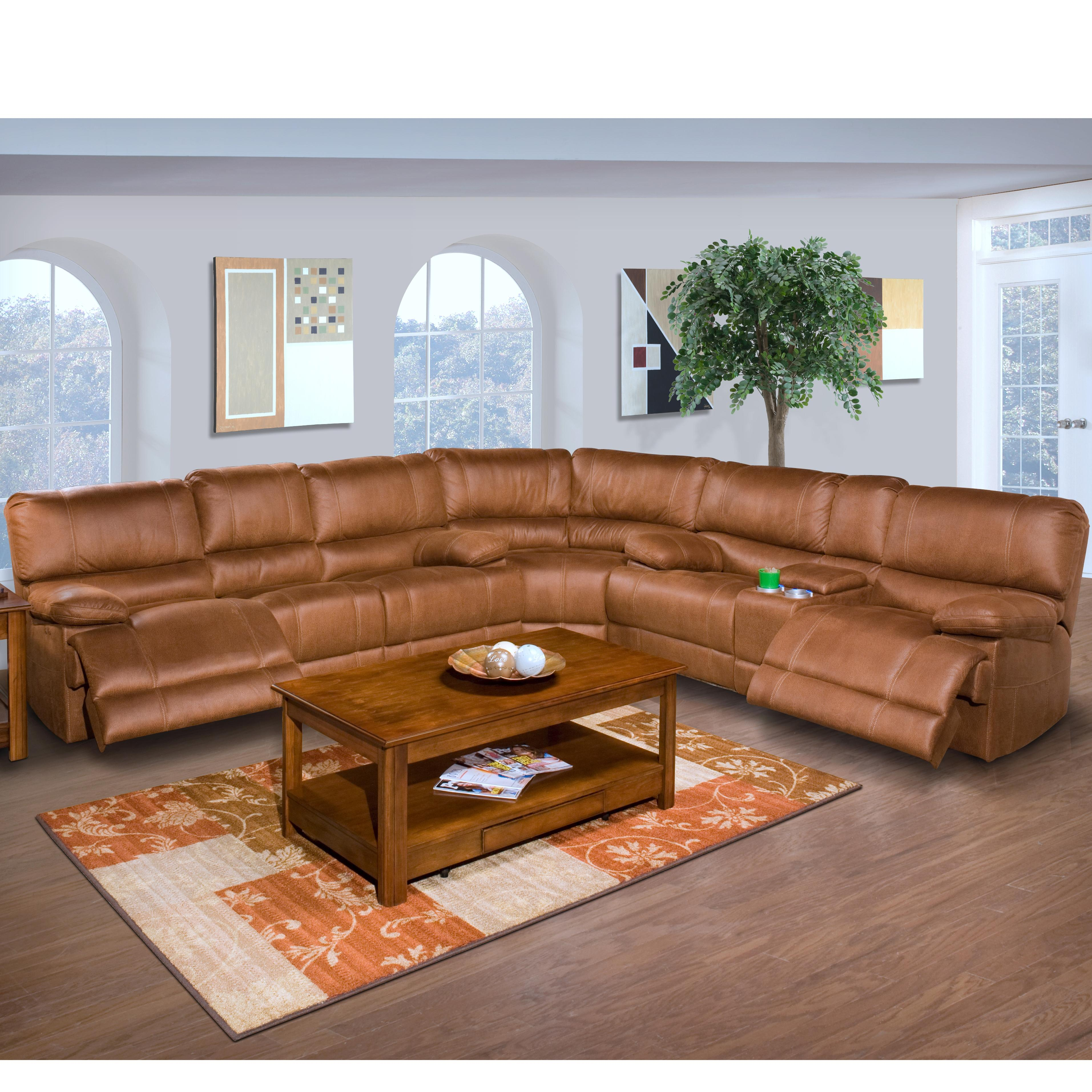 New Classic Montana Casual Recliner Sectional - Item Number: 20-309-40-CYB+25-CYB+22-309-32-CYB