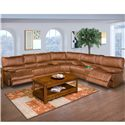 New Classic Montana Casual Dual Power Reclining Sofa with Pillow Top Arms