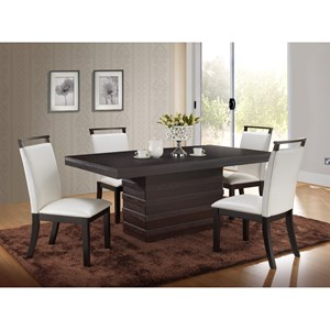 New Classic Natasha 5 Piece Boris Dining Table Set