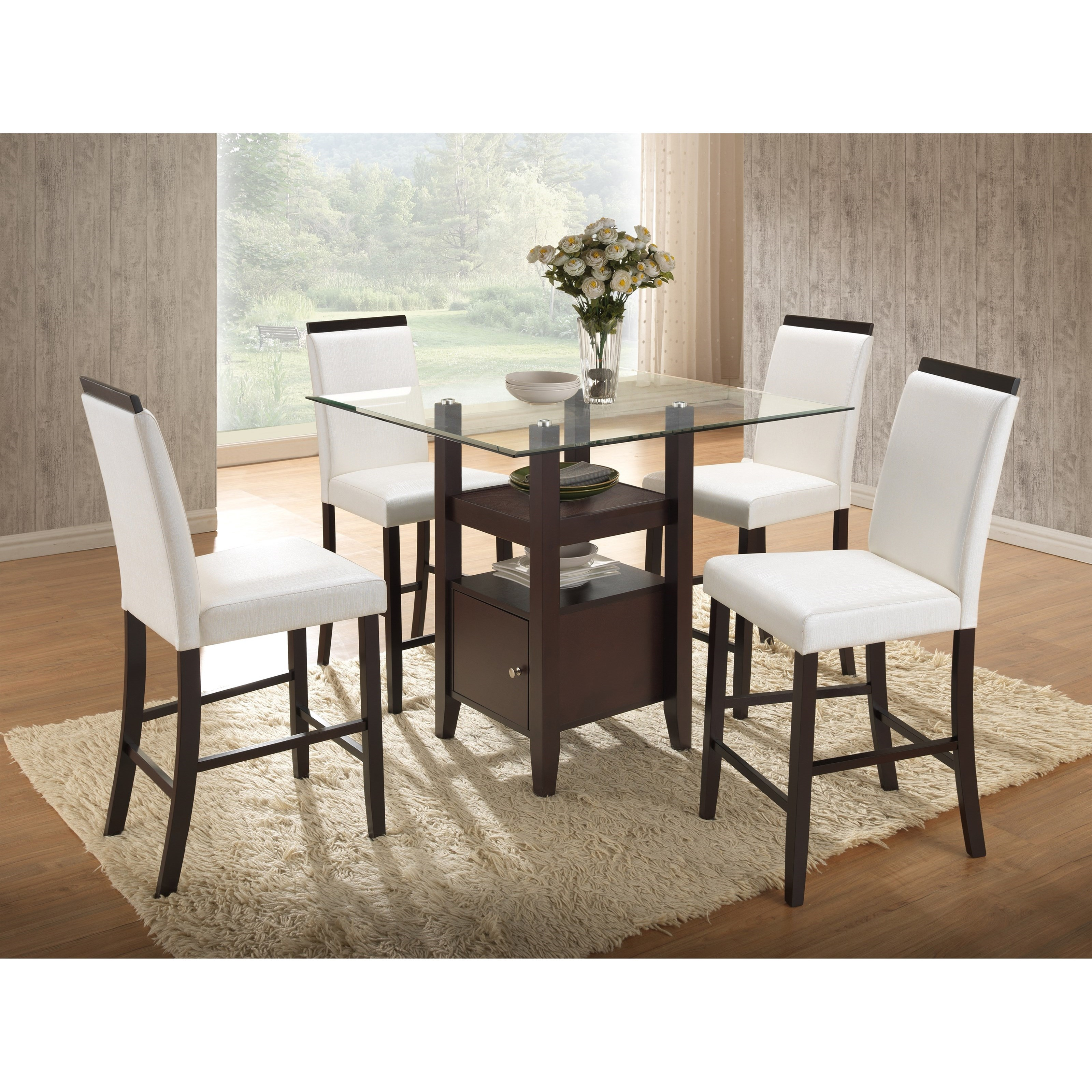 New Classic Natasha 5 Piece Counter Table Set - Item Number: D3972-12GT+12GB+4x23WH