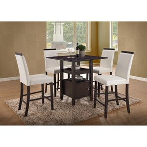 New Classic Natasha 5 Piece Wood Counter Table Set