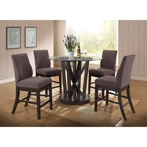 New Classic Natasha 5 Piece Round Counter Table Set