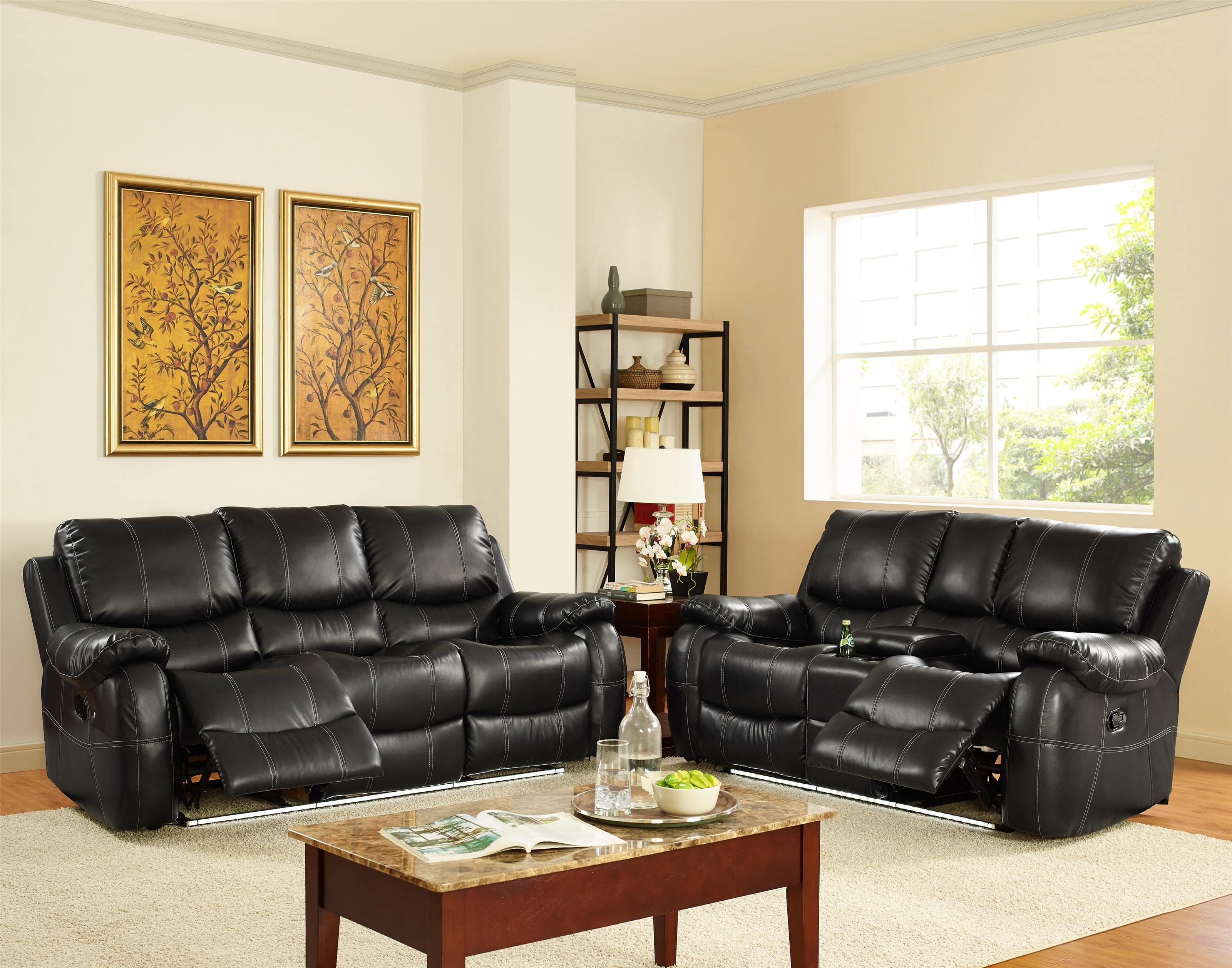 New Classic lynx Double Reclining Sofa with Lights - Item Number: lynx