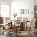 New Classic Normandy 6 Piece Dining Table Set - Item Number: D1232-10+B+4x20+25+B