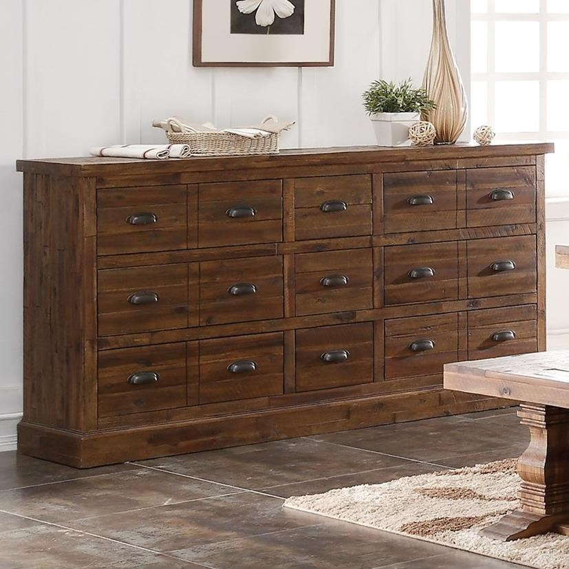 Sideboard With Felt Lined Top Drawers Normandy By New Classic Wilcox Furniture Sideboards