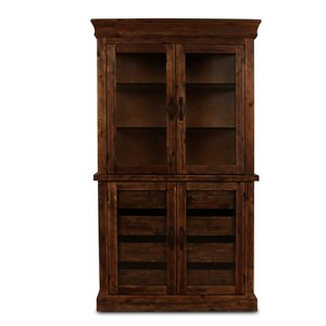 Curio Cabinet with Glass Door Base
