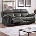New Classic Paloma Power Reclining Sofa - Item Number: L2655-30P-LGY