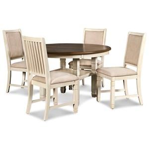 Farmhouse 5-Piece Table and Chair Set