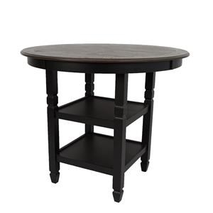 Black Round Counter Table