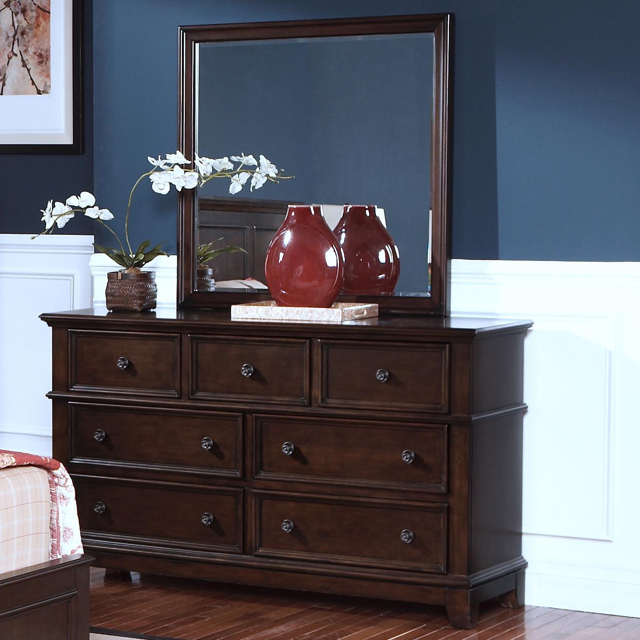 New Classic Prescott Dresser and Mirror - Item Number: 00-181-050+060