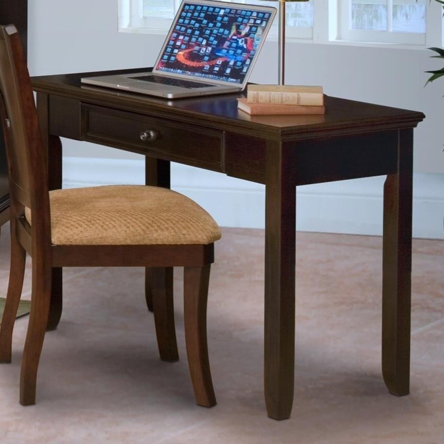 The Downing Street Executive Curio Desk: New Classic Prescott One Drawer Desk With Tapered Legs