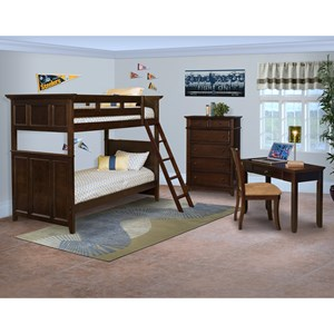New Classic Prescott Twin/Twin Bunk Bedroom Group