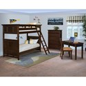 New Classic Prescott Twin/Twin Bunk Bedroom Group - Item Number: 181 TT Bunk Bedroom Group 1