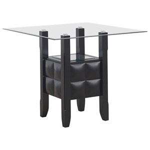 Transitional Square Counter Height Dining Table