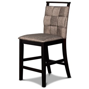 Transitional Upholstered Counter Height Chair