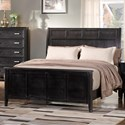 New Classic Richfield Ebony Queen Panel Bed - Item Number: 00-117-310+320+330-Ebony