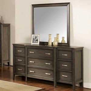 New Classic Richfield Smoke Dresser and Mirror