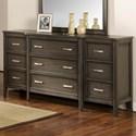 New Classic Richfield Smoke Dresser - Item Number: 00-117S-050