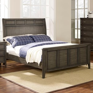 New Classic Richfield Smoke Queen Panel Bed