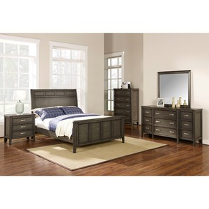 New Classic Richfield Smoke Queen Bedroom Group