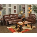 New Classic Rossi Traditional Recliner with Panel Rolled Arms and Nailhead Trim