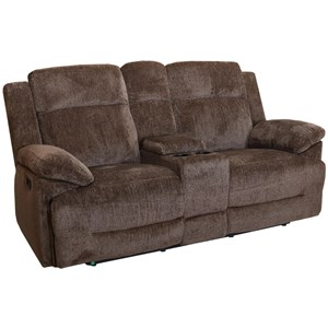 New Classic Ryder Dual Recliner Loveseat with Console