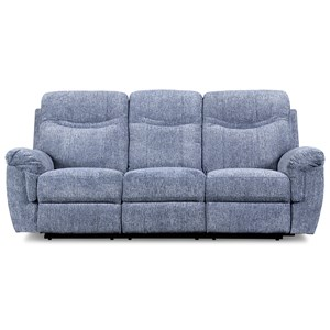 Casual Dual Power Reclining Sofa with Power Headrest