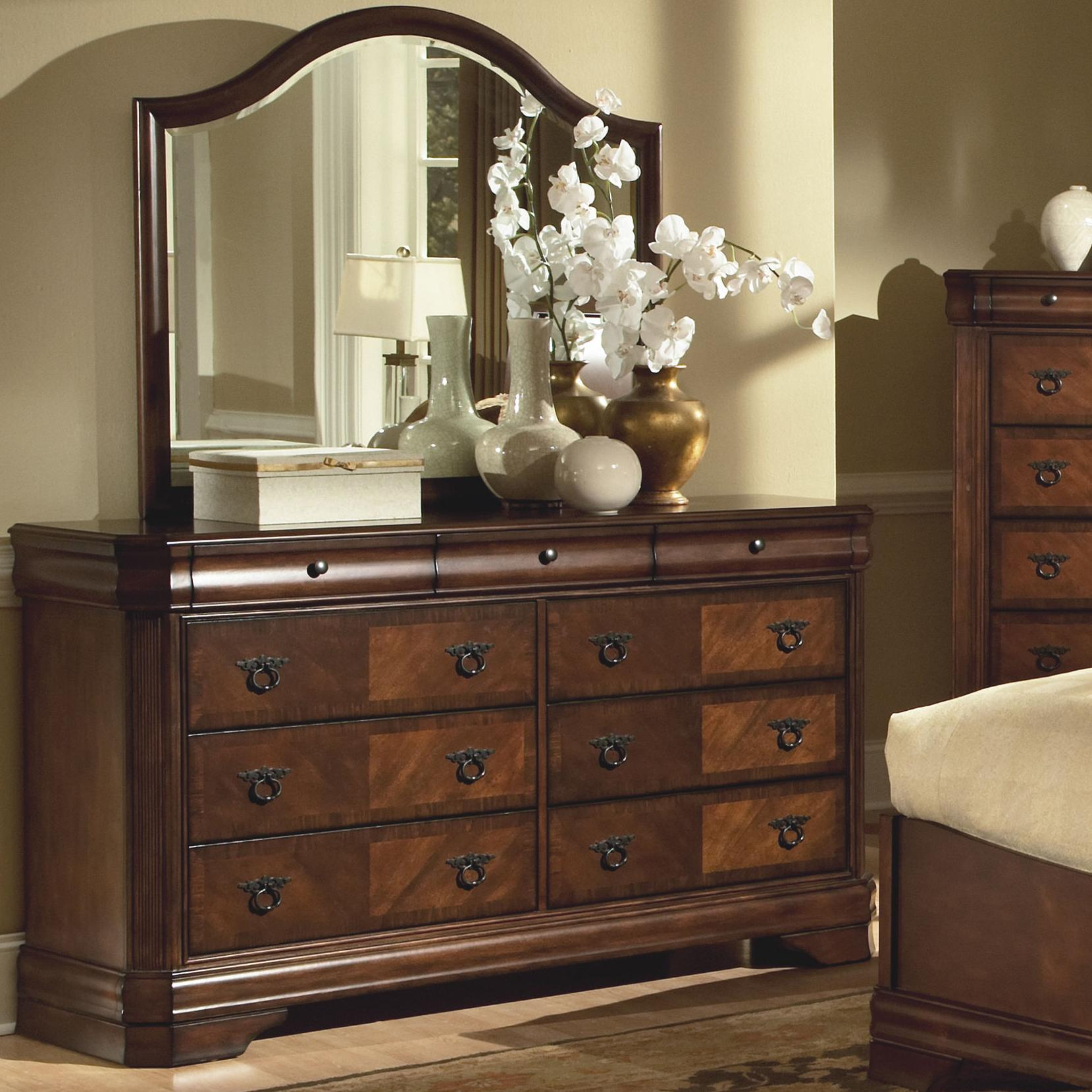 New Classic Sheridan Dresser and Mirror - Item Number: 00-005-050+60