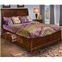 New Classic Sheridan Queen Bed with Storage - Item Number: 00-005-310+20+30+38