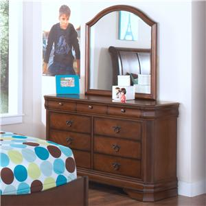 New Classic Sheridan Youth Dresser and Mirror