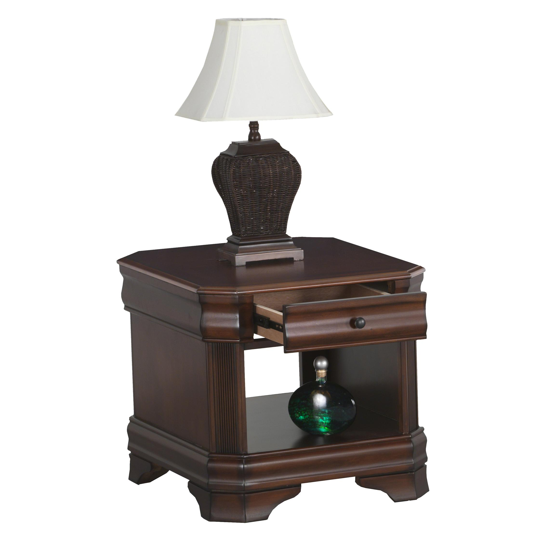 New Classic Sheridan End Table with Drawer and Base Shelf - Royal Furniture - End Table