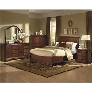 New Classic Sheridan King Bed, Dresser, Mirror & Nightstand
