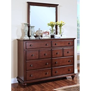 New Classic Spring Creek Dresser and Mirror Set