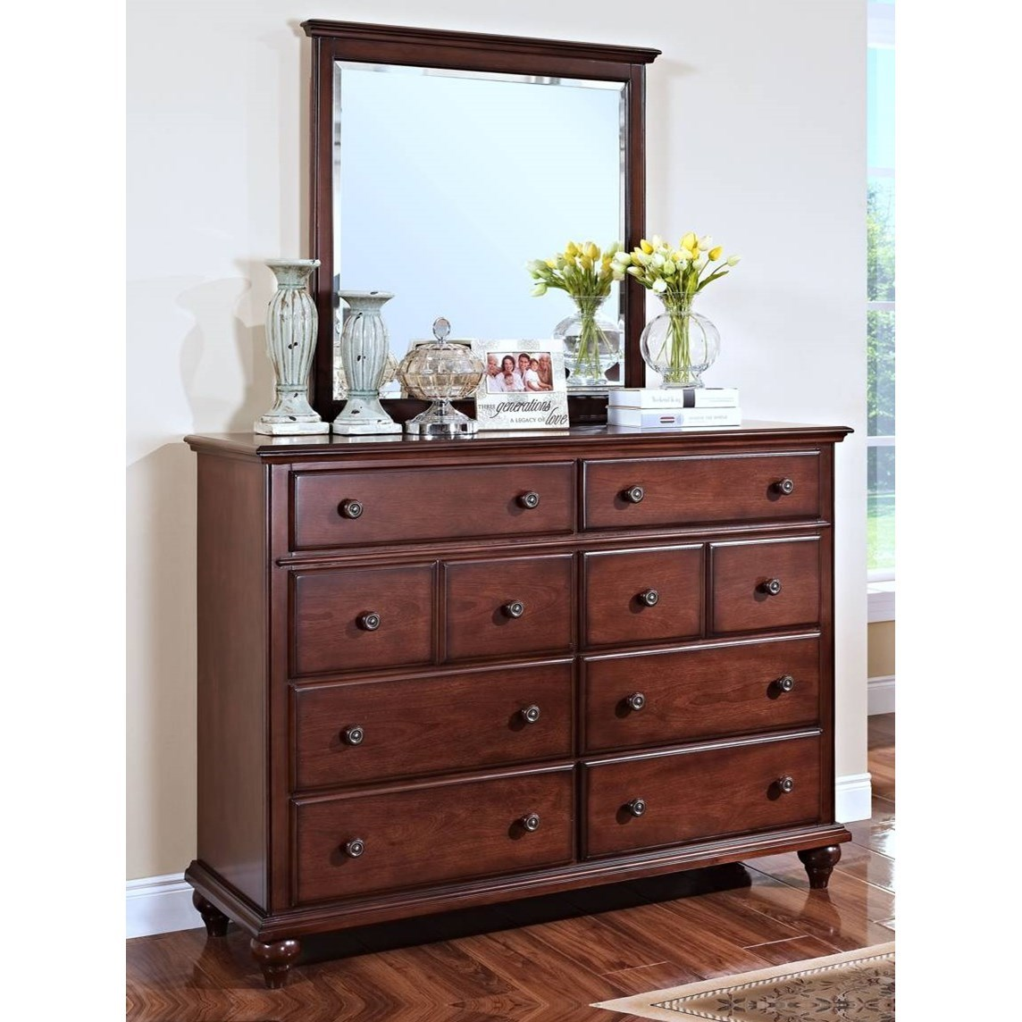 New Classic Spring Creek 00 146 050 Eight Drawer Dresser With Metal Drawer Knobs Beck 39 S