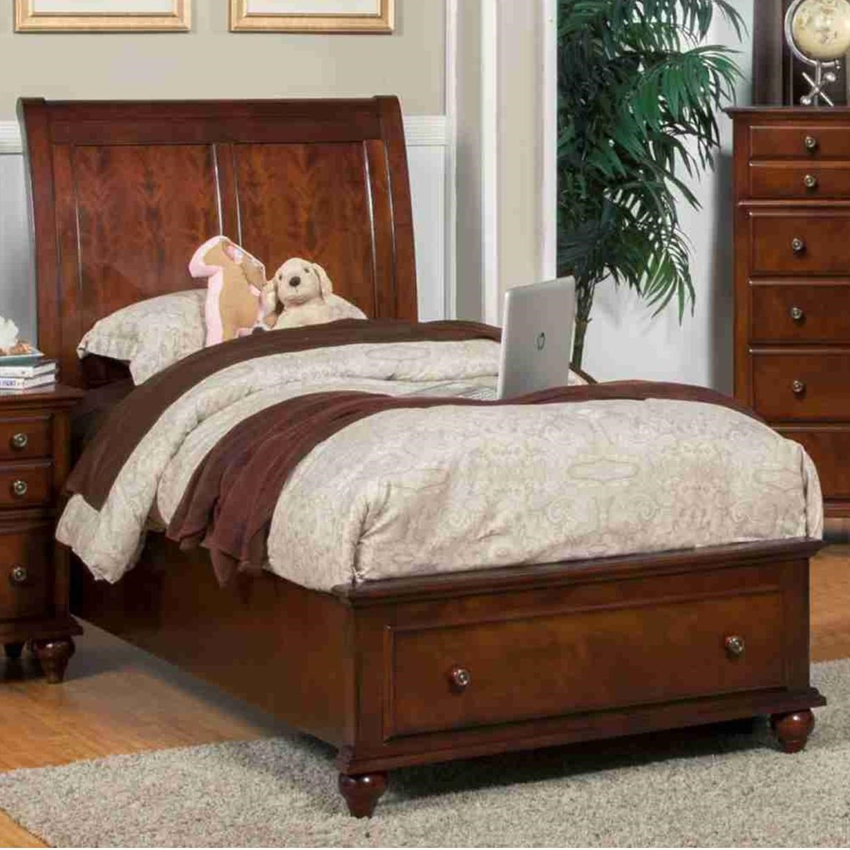 New Classic Spring Creek Twin Low Profile Storage Bed With