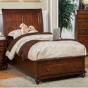 New Classic Spring Creek Full Low Profile Storage Bed - Item Number: 05-146-410+428+430
