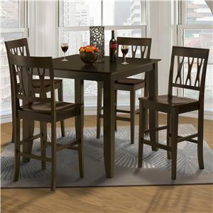New Classic Style 19 Small Counter Height Table and Wood Chairs
