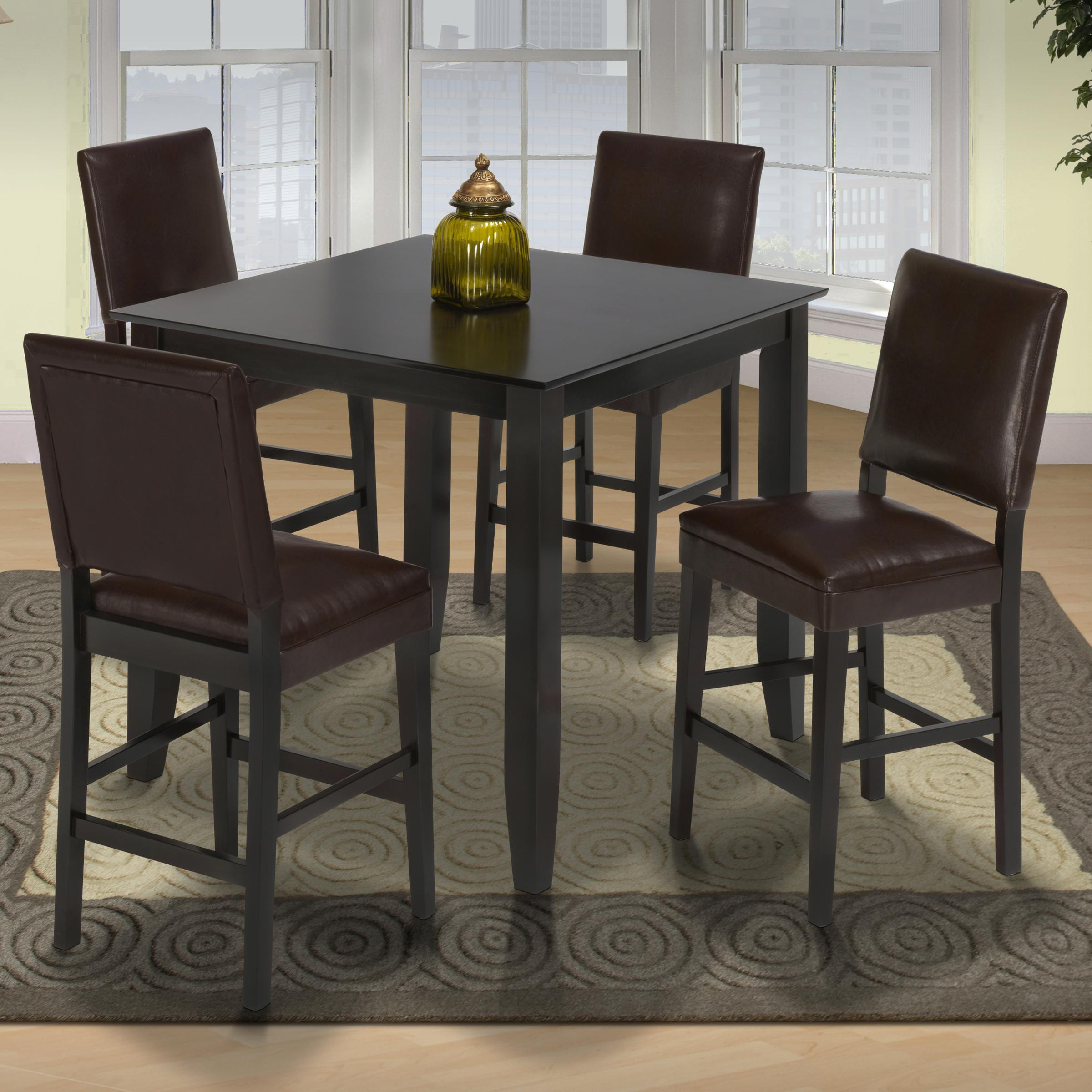 Style 19 Small Pub Table And Upholstered Chairs Lapeer Furniture