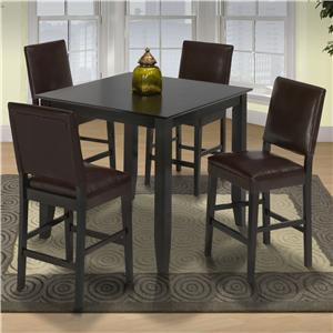 New Classic Style 19 Pub Height Table and Upholstered Chairs