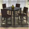 New Classic Style 19 Square Counter Height Kitchen Table - Shown with Chocolate Upholstered Counter Height Chairs