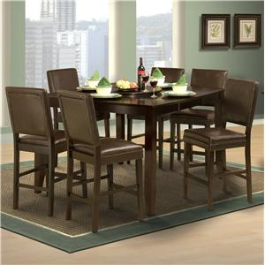 New Classic Style 19 Counter Height Table and Upholstered Chairs