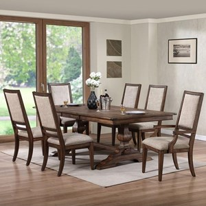 New Classic Sutton Manor 7 Piece Dining Set
