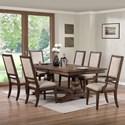 New Classic Sutton Manor 7 Piece Dining Set - Item Number: D1505-10+4x20+2x25