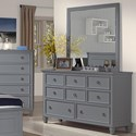New Classic Tamarack Dresser and Mirror Set - Item Number: 00-042-050+060