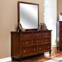 New Classic Tamarack Dresser and Mirror Set - Item Number: 00-043-050+060