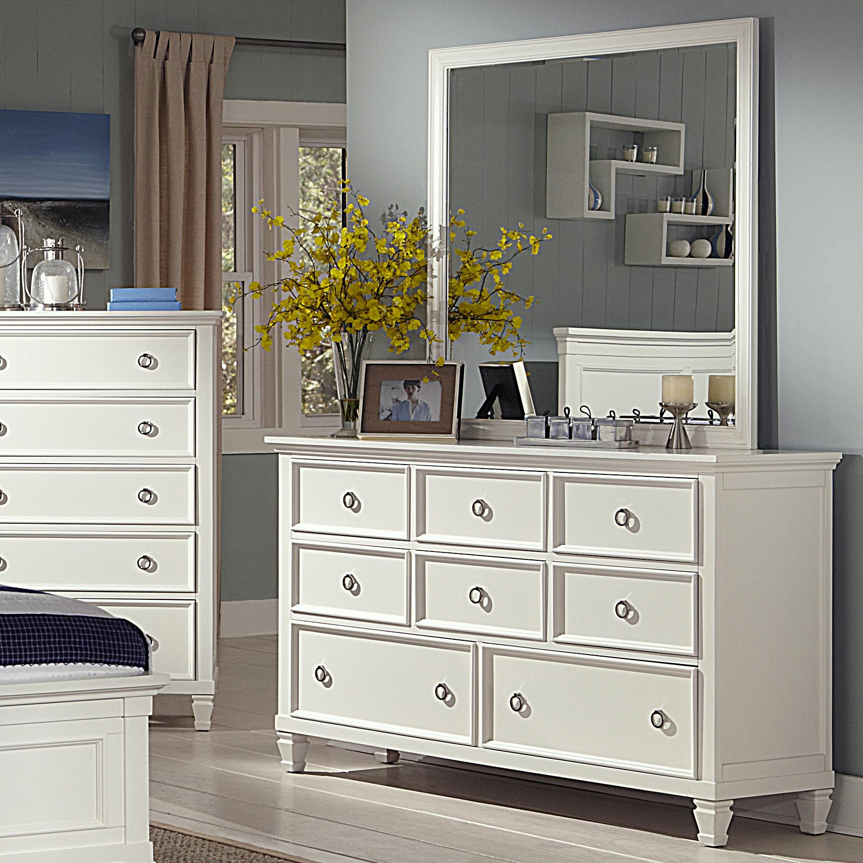 New Classic Tamarack Dresser and Mirror Set - Item Number: 00-044-050+060
