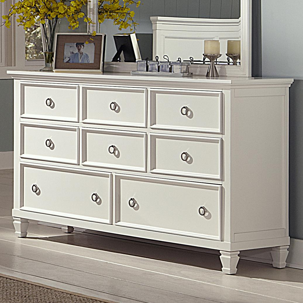Bedroom Dressers With Mirrors: New Classic Tamarack 00-044-050 Eight-Drawer Dresser