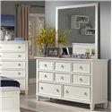 New Classic Tamarack Square Dresser Mirror - Shown with Dresser
